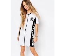 Summer Nummer T-Shirt-Kleid mit Reißverschluss vorne Weiß