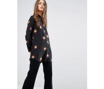 M.i.h Jeans Schlichtes Oversize-Hemd mit 70er-Sternenmuster Mehrfarbig