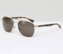Hugo Retro-Sonnenbrille in Braun Braun