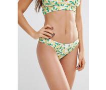 Bikinihose mit Ananasmuster Mehrfarbig