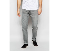Levi's 522 Schmale, zulaufende Stretch-Jeans in hellgrauer Gated Grey-Waschung Grau