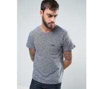 Gestreiftes T-Shirt Blau