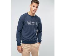 "Sweatshirt mit """"-Print und Raglanärmeln in Marineblau Marineblau"