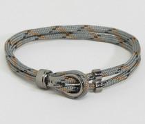 Stoffarmband in Grau Grau