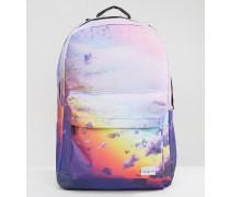 Rucksack mit Wolkenprint Violett