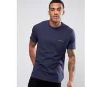 T-Shirt mit Logo auf der Tasche Marineblau