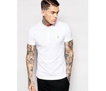 Polo T-Yahei Jerseyshirt in schmaler Passform Weiß