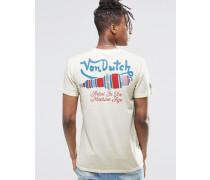 T-Shirt mit kleinem Logo Steingrau