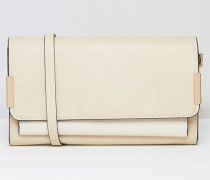Nude Umhängetasche in Nude mit Farbblockdesign Beige