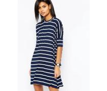 Gestreiftes T-Shirt-Kleid Mehrfarbig