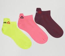 3-er Pack Socken in Neon Mehrfarbig