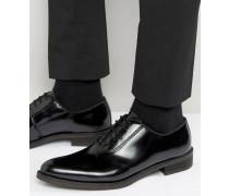 Oxford-Schuhe aus hochglänzendem Leder Schwarz