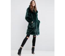 Mantel aus plüschigem Fellimitat Grün