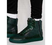 Python Knöchelhohe Sneaker Grün