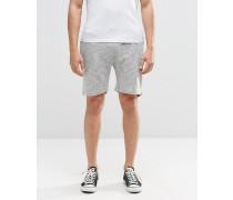 Shorts aus Flamé-Jersey Grau