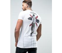 T-Shirt mit Print auf Vorder- und Rückseite Weiß