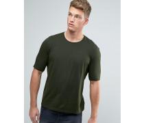 T-Shirt mit Rundhalsausschnitt und Raglan-Detail hinten Grün