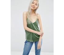 Camisole aus Samt Grün