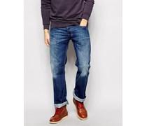 Zatiny 8XR Bootcut-Jeans in mittlerer Waschung Blau