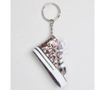 Schlüsselring mit glitzerndem High-Top-Sneaker Mehrfarbig