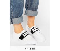 DIVINE Sneaker in weiter Passform mit Slogan Weiß