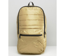 Gesteppter Rucksack in Metallic-Optik Gold