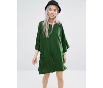Überdimensioniertes T-Shirt-Kleid Grün