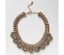 Halskette aus Metall Silber
