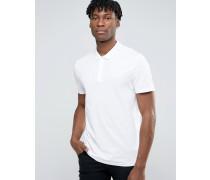 Übergroßes, weißes Pikee-Polohemd Weiß