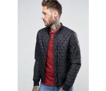 Armani Jeans-Bomberjacke mit gestepptem Muster in Schwarz Schwarz