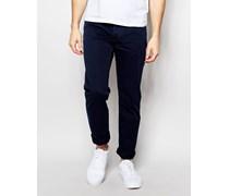 Schmal geschnittene Hose mit 5 Tasche Blau