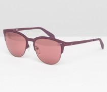 Verspiegelte Halbrahmen-Sonnenbrille Rosa