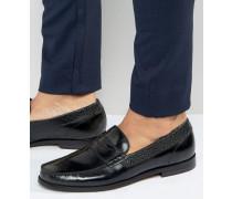 Rommeo Glänzende Loafer Grau