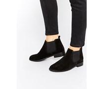 AMERICA Chelsea-Ankle-Boots aus Wildleder Schwarz