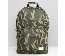 Rucksack mit Camouflage-Muster Grün