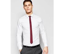 Pack schmal geschnittene Hemden in Bordeaux und Weiß, 15% RABATT Weiß
