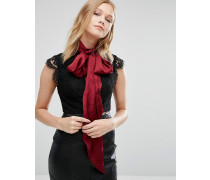 Breite Chiffon-Krawatte Rot