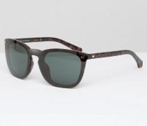 CK Jeans Sonnenbrille mit D-förmigem Rahmen Braun