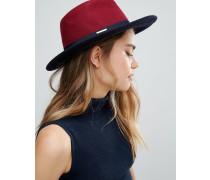 Fedora-Hut mit kleiner Schleife Violett