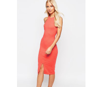 Midi-Bleistiftkleid mit Racerback Orange