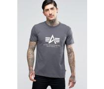T-Shirt mit Logo in Grau in regulärer Passform Grau
