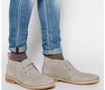 Gobi Chukka-Stiefel aus Wildleder Grau