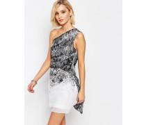 Stardust Kleid mit One-Shoulder-Träger Weiß