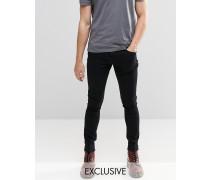 Brooklyn Supply Co Dyker Sehr enge Skinny-Jeans in verwaschenem Schwarz Schwarz