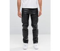 Sharp Leder-Jeans Schwarz