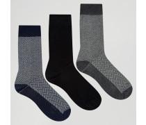 3er Pack Socken Mehrfarbig