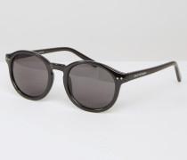 Zirkelrunde Sonnenbrillen Schwarz