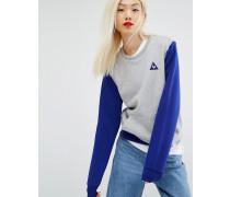 Sweatshirt mit Rundhalsausschnitt und Farbblockdesign Blau