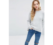 Bouclé-Pullover Mehrfarbig