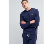 Fila Vintage-Sweatshirt mit kleinem Logo Marineblau